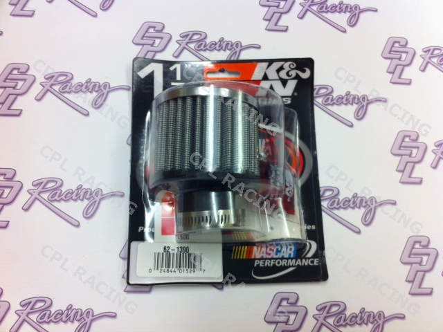 "K & N Rubber Base 1.25"" 32mm Crankcase Vent / Breather Filter 62-1390 : CPL Racing"