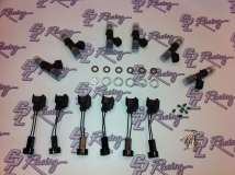 """Injector Dynamics Injectors - 1300cc - Nissan R35 GTR Set of 6 with """"plug and play"""" adaptors"""